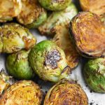 Oil-free roasted brussels sprouts with Asian sauce