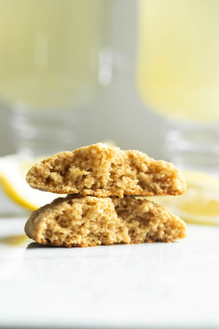 interior view of how fluffy inside of lemon cookies are