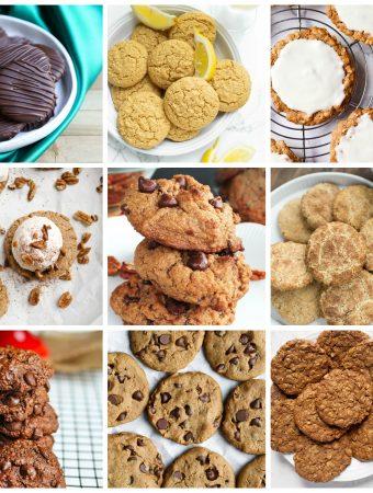 collage of vegan oil-free cookies