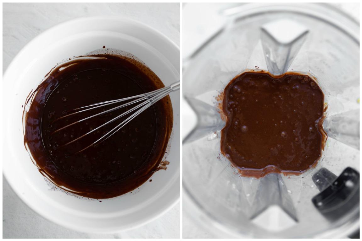 chocolate cream pie filling blended in blender
