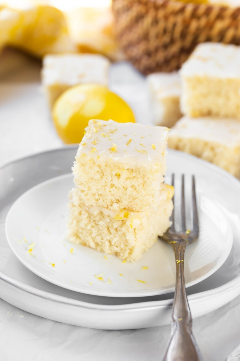 Phenomenal Easy Vegan Lemon Cake 6 Ingredients The Vegan 8 Birthday Cards Printable Trancafe Filternl