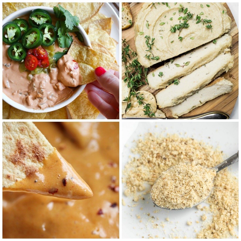 collage of vegan cheese pictures