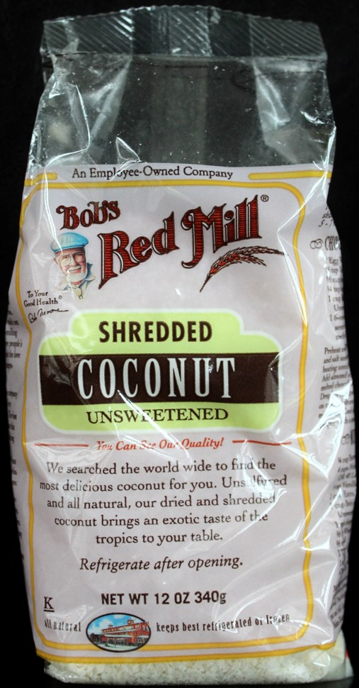 bag of Bob's Red Mill shredded Coconut